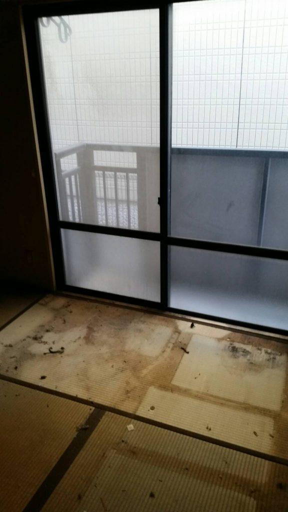 岡山市北区野田_アパート引っ越し_和室ごみ片付け後1
