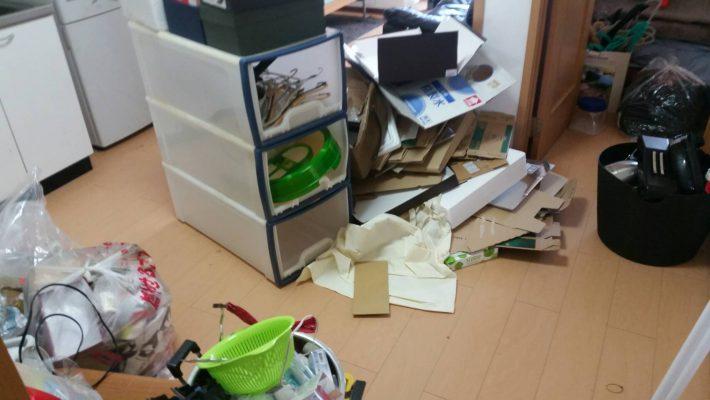 岡山市北区栢谷_不用品回収_キッチンを片付ける前