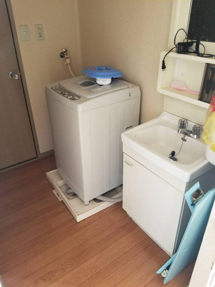 不用品回収_岡山市南区今在家_洗濯機回収前