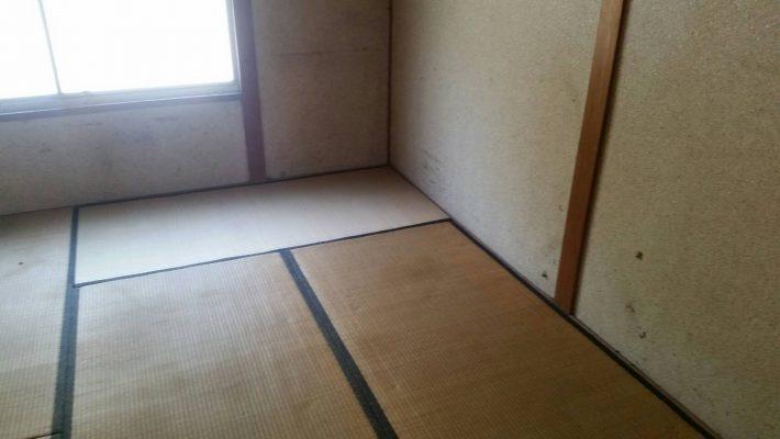 岡山市南区浦安_不用品回収事例_和室の粗大ゴミ撤去