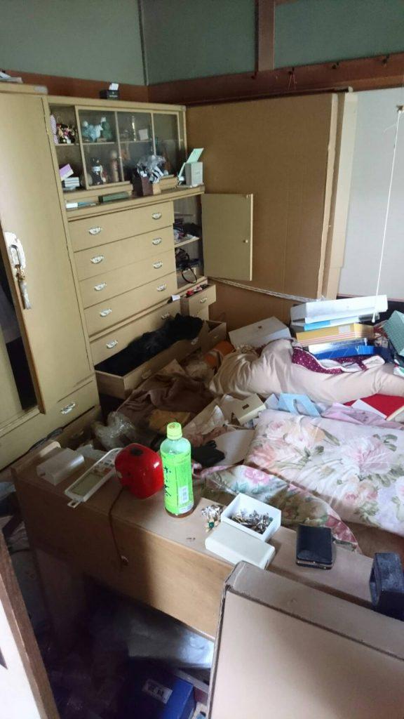 不用品回収_岡山市北区中井町一丁目_1階寝室