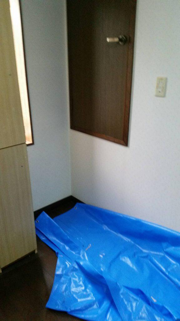 不用品回収岡山市北区法界院_粗大ゴミを回収した後の洋室