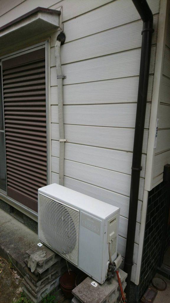 岡山市北区野田_アパート_エアコン室外機取り外し前