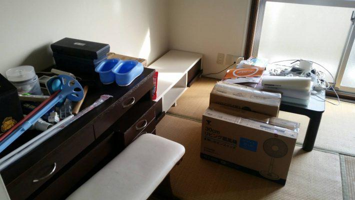 岡山市北区尾上_片付け前の寝室
