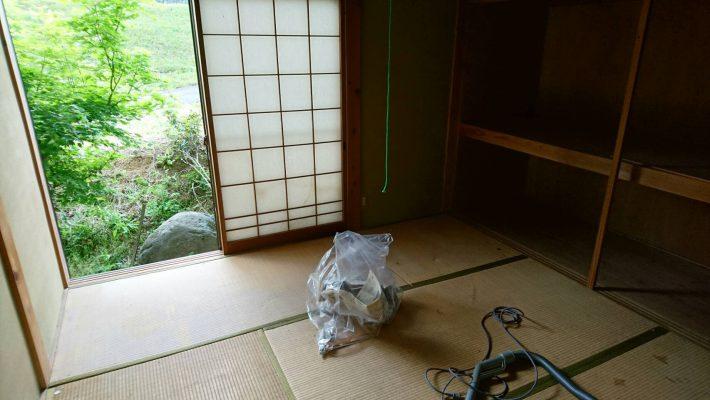 岡山市北区上中野の不用品_粗大ゴミ片付け後の和室