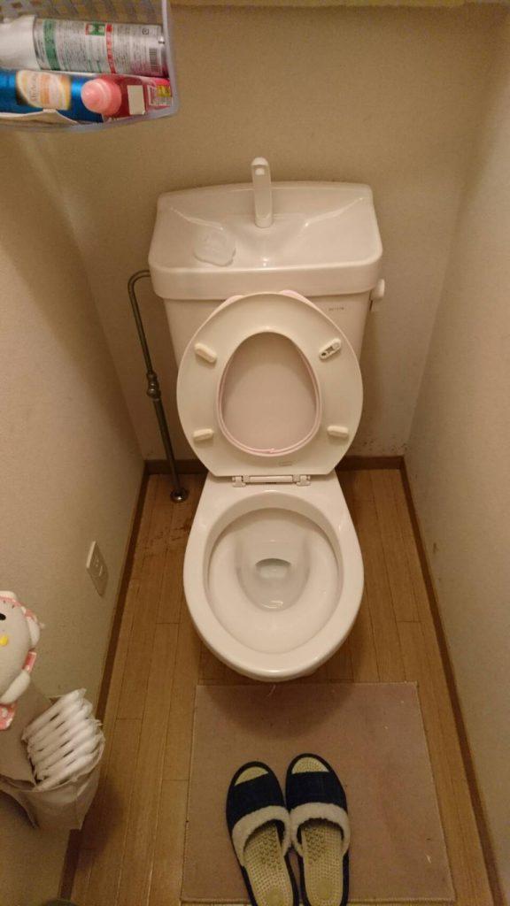 不用品回収_岡山市北区西之町_清掃後のトイレ