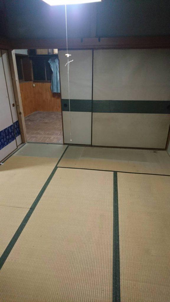 岡山市北区中央町_不用品_回収後の和室