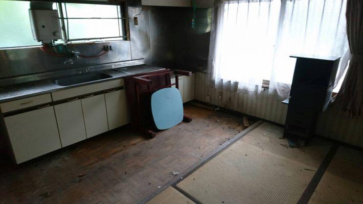 岡山市中区高島一丁目_不用品回収後のキッチン