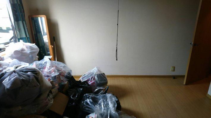 不用品回収_岡山市北区西之町_回収後の寝室