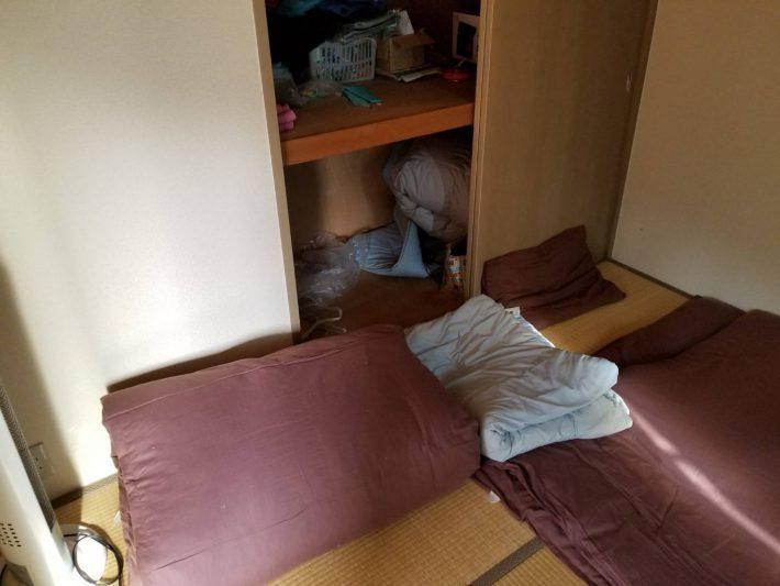 不用品回収_岡山市南区今在家_和室回収前