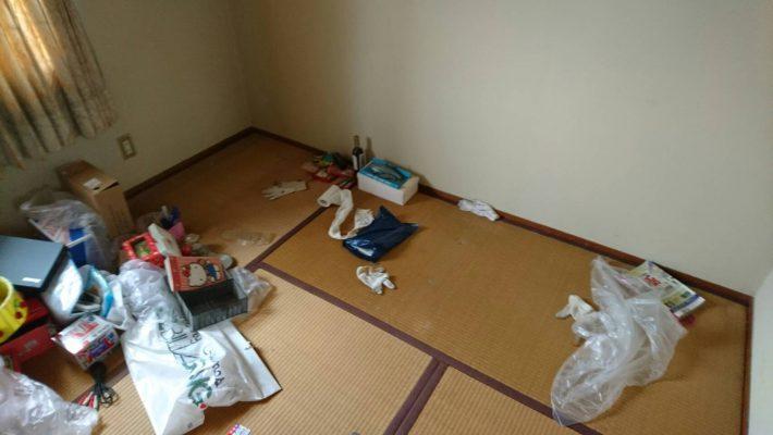 岡山市南区下中野_不用品回収_居間片付け後