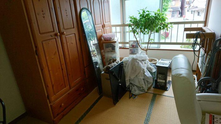 不用品回収_岡山市中区円山_寝室作業前