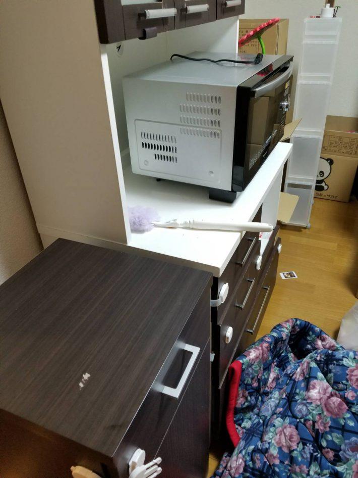 岡山市北区谷万成_お部屋の掃除_処分した電子レンジ