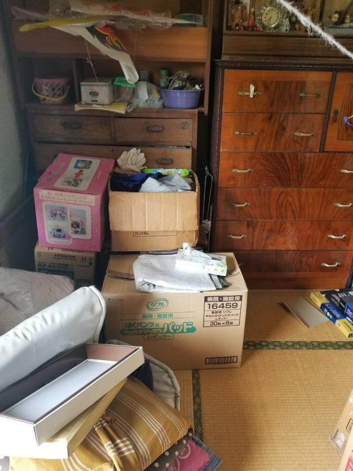 岡山市北区谷万成_お部屋の掃除_作業前の和室