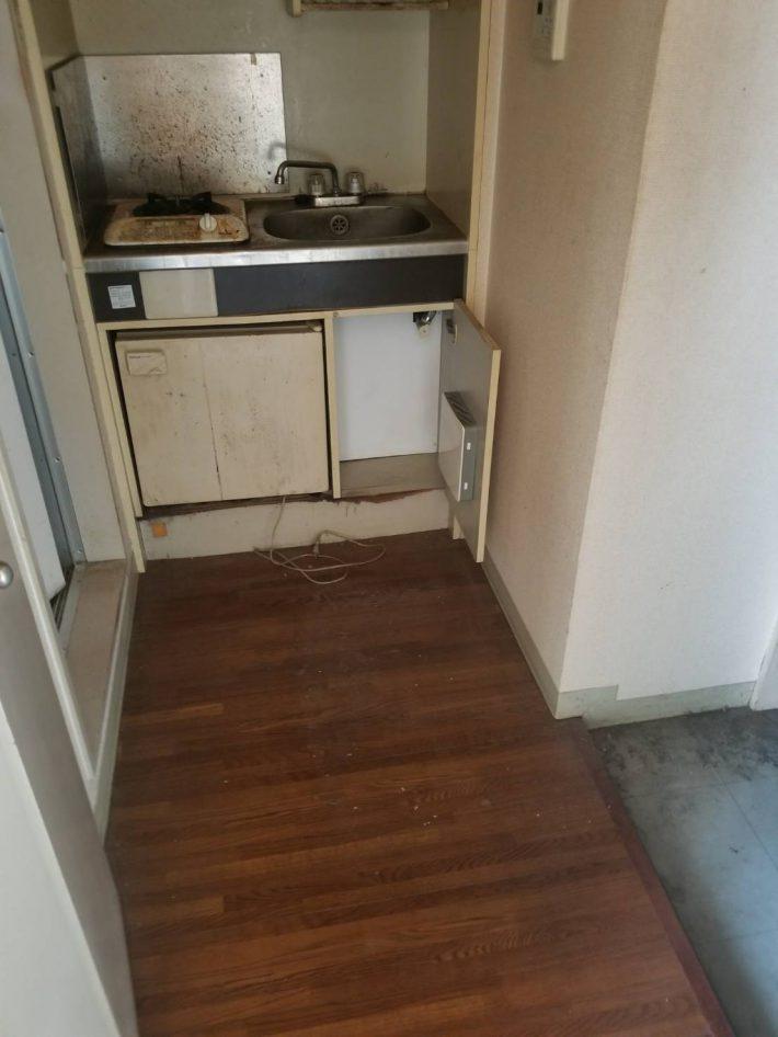 岡山市中区西中島町ワンルームマンション_片付け後のキッチン