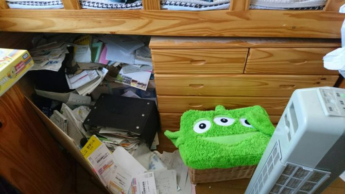 不用品回収_岡山市北区北長瀬_机の下の粗大ゴミ