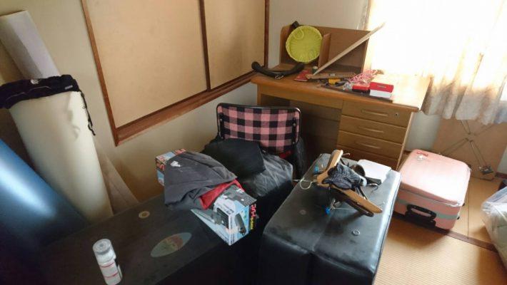 岡山市南区下中野_不用品回収_寝室片付け前