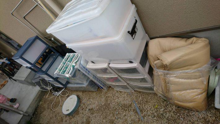 岡山市南区下中野_不用品回収_衣装ケースカラーボックス