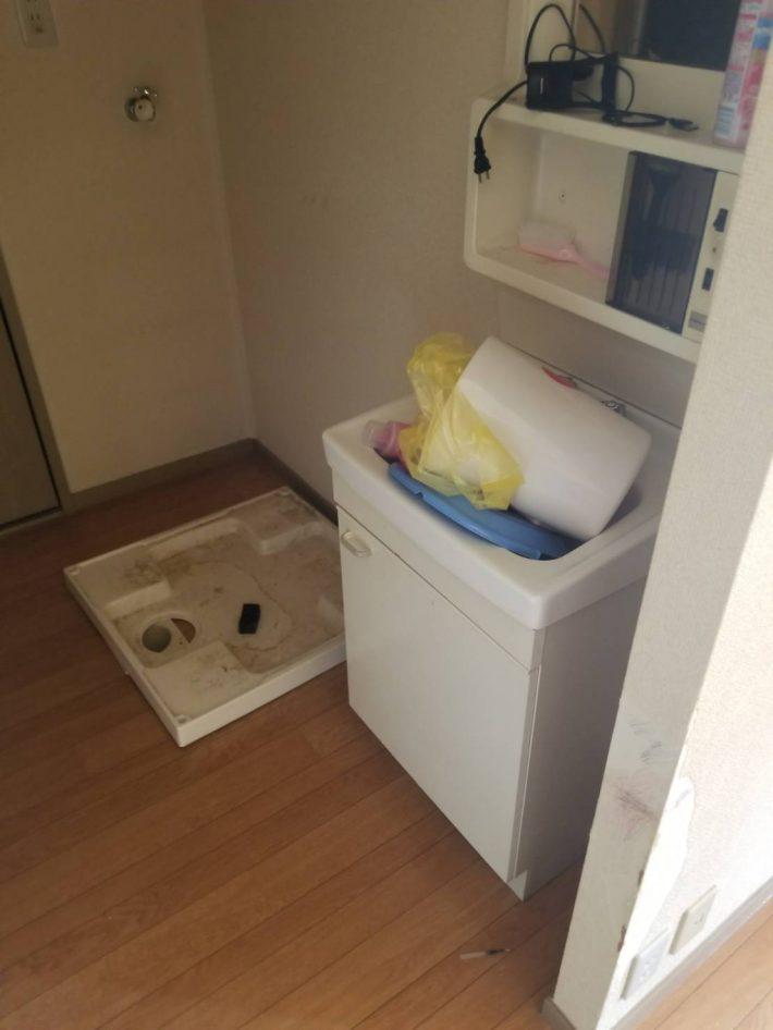 不用品回収_岡山市南区今在家_洗濯機回収後