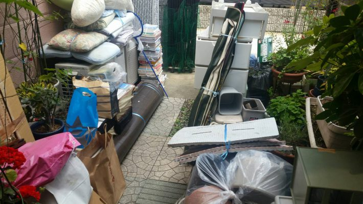不用品回収_岡山市北区一宮_庭の粗大ゴミ