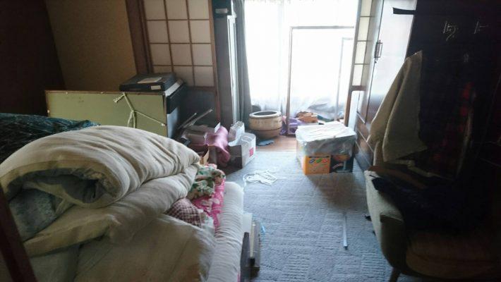 不用品回収_岡山市北区中井町一丁目_2階寝室