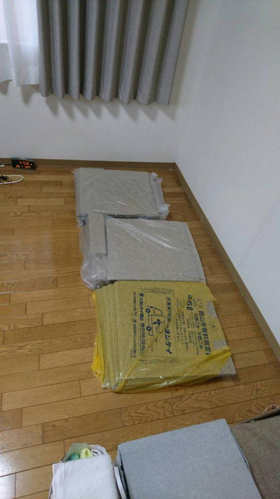 不用品回収_岡山市北区昭和町_ベッドを片付けた後の寝室
