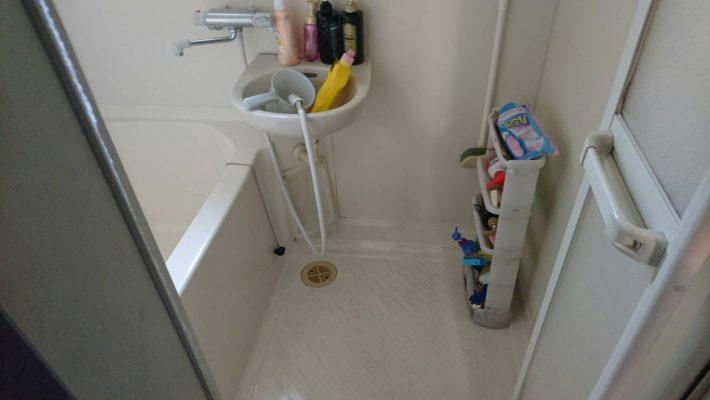 不用品回収_岡山市北区西之町_清掃後のバスルーム